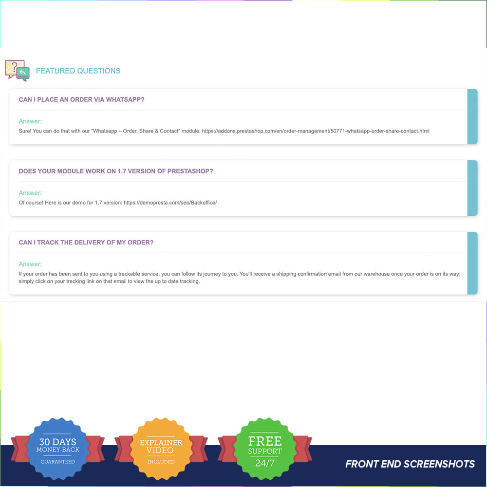 module - FAQ (questions fréquentes) - FAQ - Complete pack for support - 2