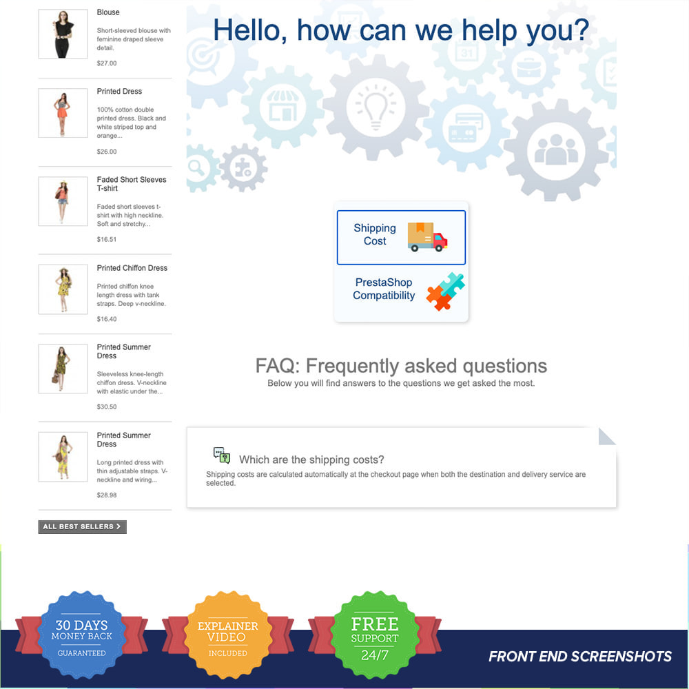 module - FAQ (questions fréquentes) - FAQ - Complete pack for support - 5