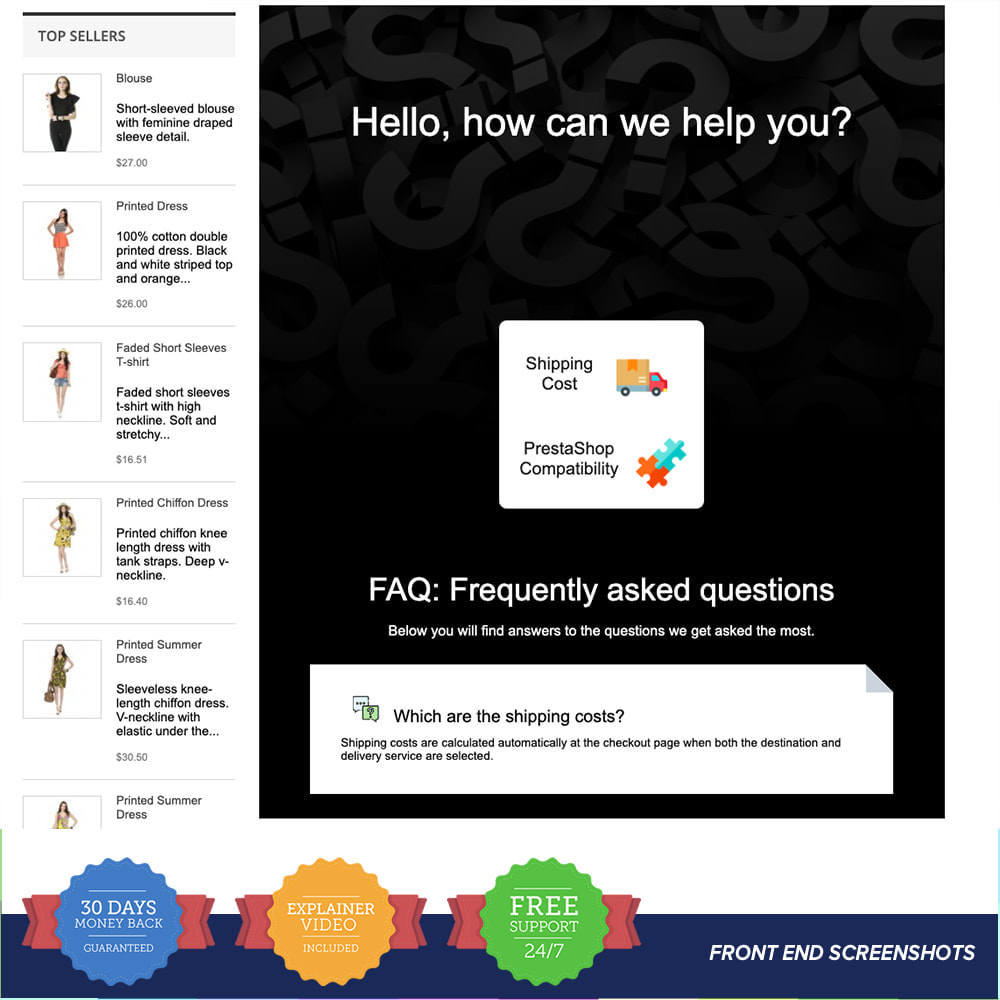 module - FAQ (questions fréquentes) - FAQ - Complete pack for support - 6