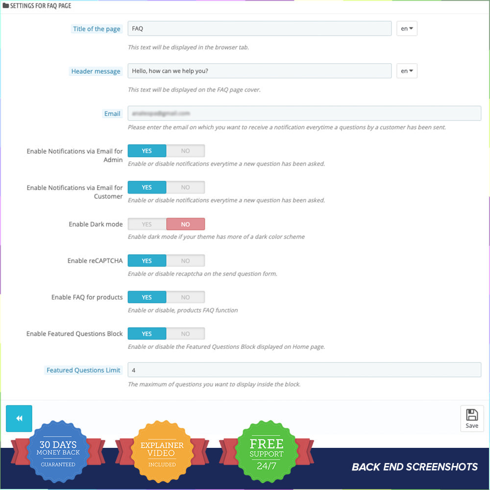 module - FAQ (questions fréquentes) - FAQ - Complete pack for support - 7