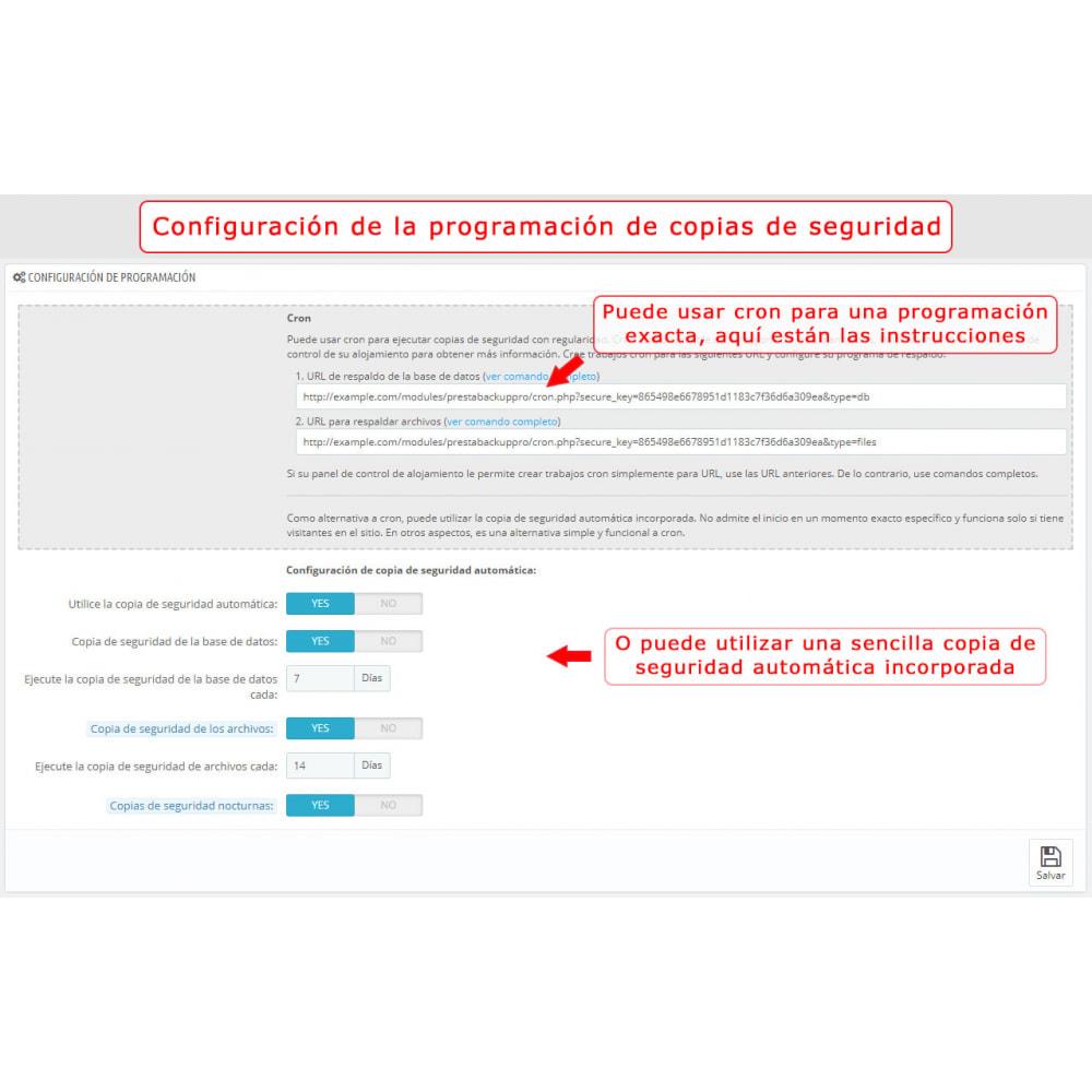 module - Migración y Copias de seguridad - PrestaBackup PRO (+ Google Drive) - 3