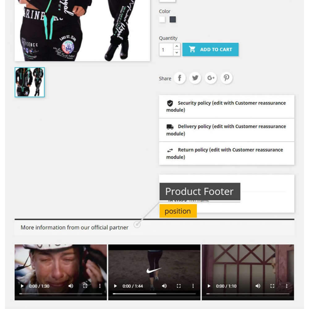 module - Additional Information & Product Tab - Product Videos - Upload Videos for Products - 2