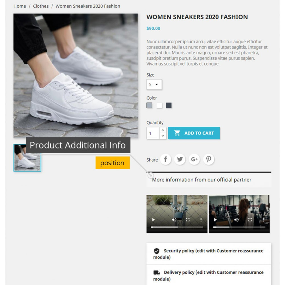 module - Additional Information & Product Tab - Product Videos - Upload Videos for Products - 3