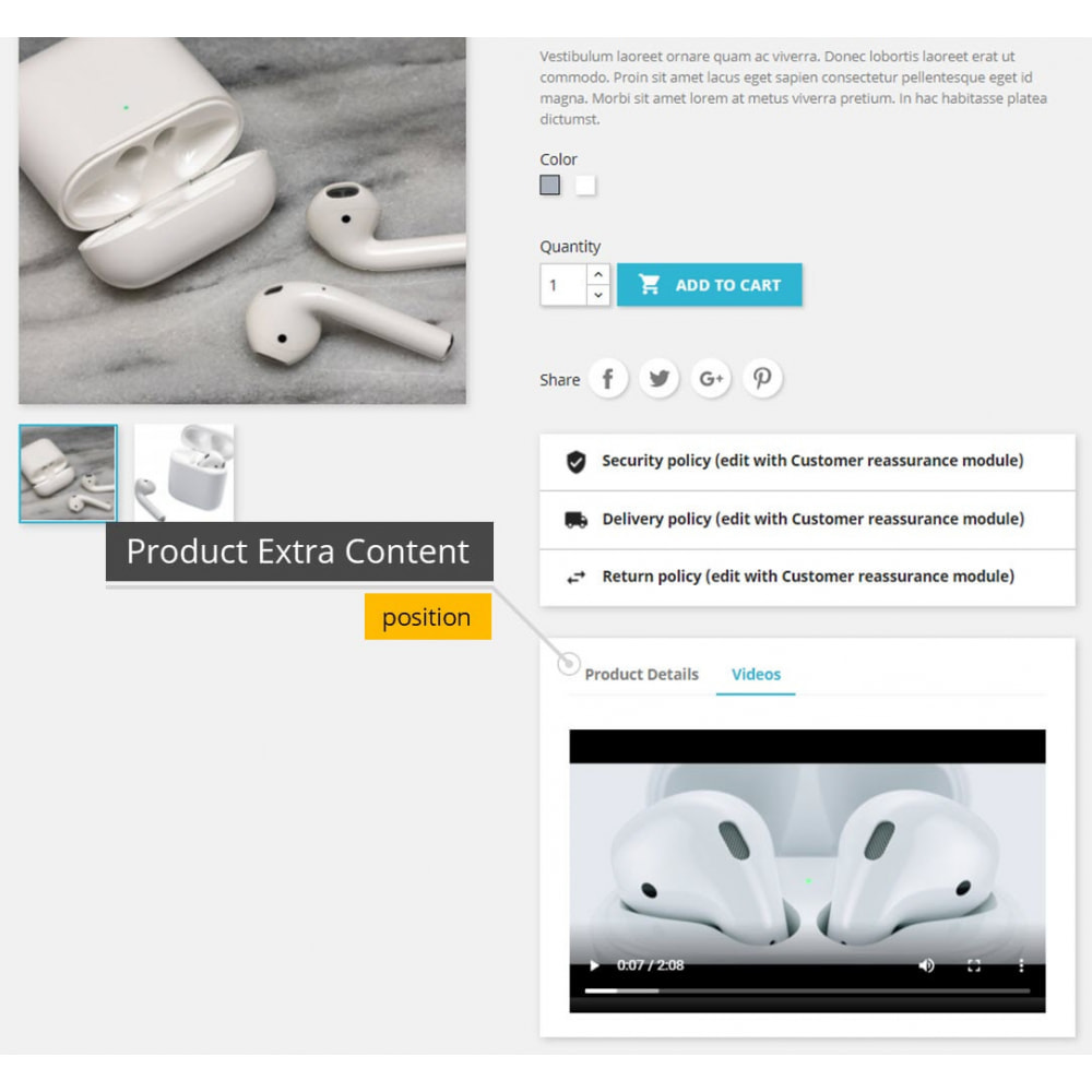 module - Additional Information & Product Tab - Product Videos - Upload Videos for Products - 4