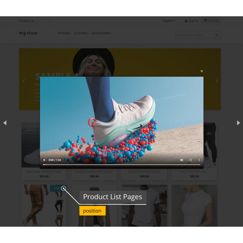 module - Additional Information & Product Tab - Product Videos - Upload Videos for Products - 5