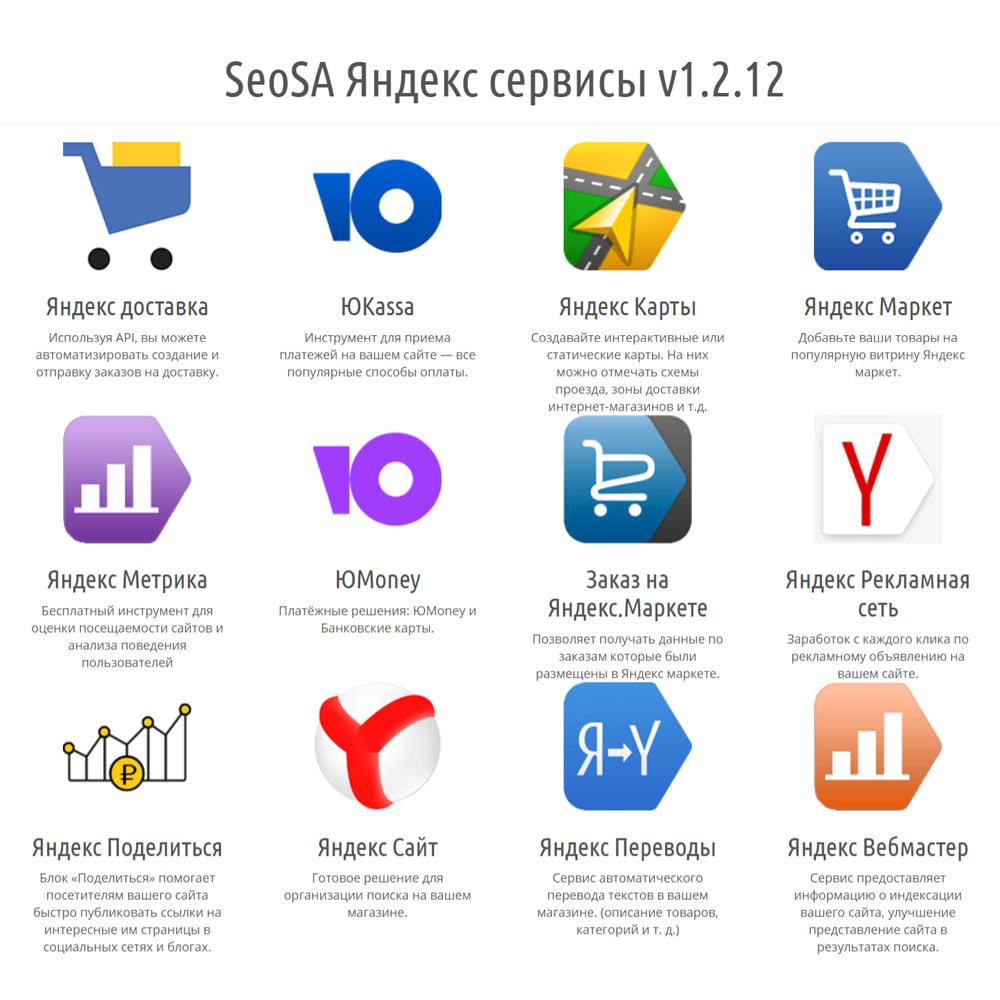 module - Поиск и фильтры - Integration with Yandex services - 2