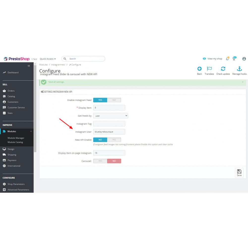 module - Social Widget - Instagram Feed Slider & Carousel with NEW API - 3