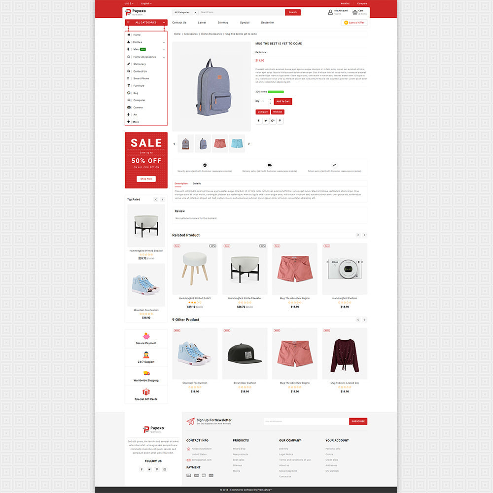 theme - Elektronica & High Tech - Payoxo - Digital Responsive Store - 5
