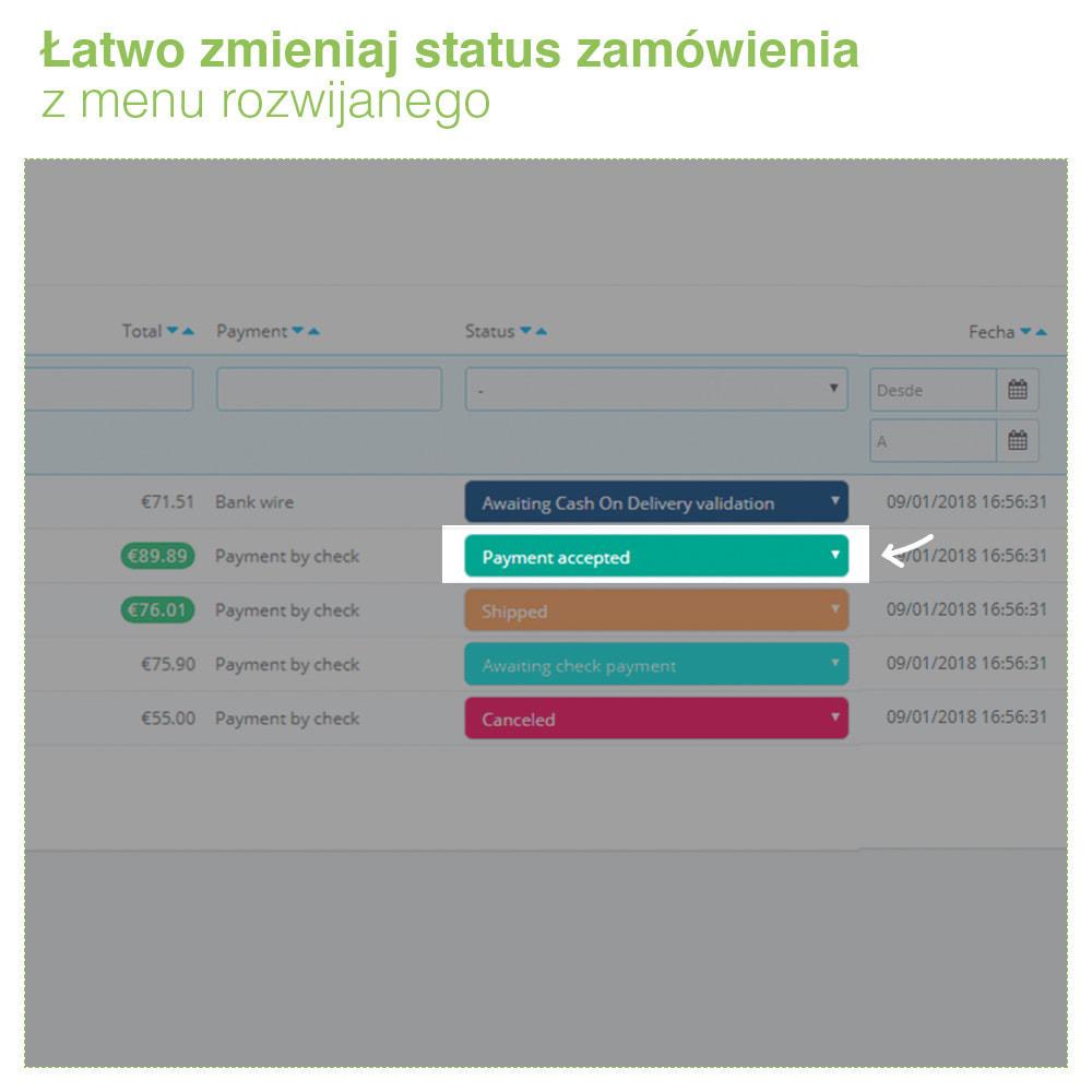 module - Zarządzanie zamówieniami - Change order status: szybka edycja stanu zamówień - 3