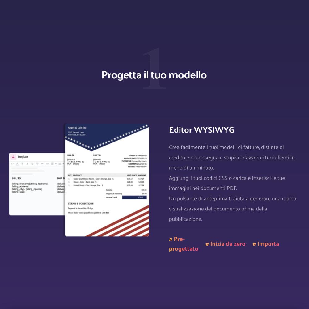 module - Contabilità & Fatturazione - DocumenThemix: modello di fattura, credito, consegna - 3