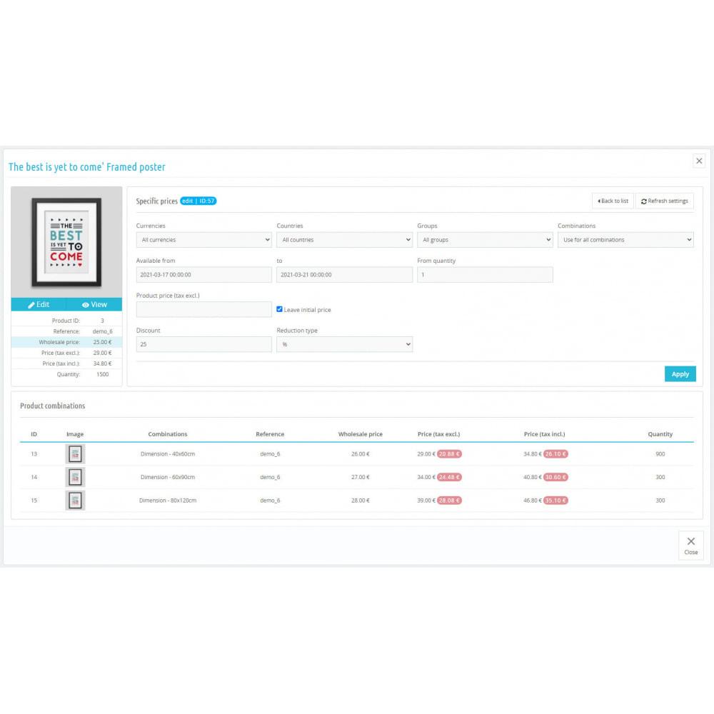 module - Быстрое & массовое редактирование - Specific Prices Editor - 3