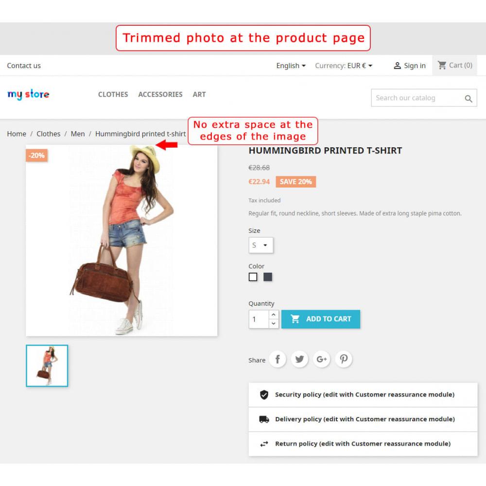 module - Personalizzazione pagine - Automatic image trimming and cropping - 5