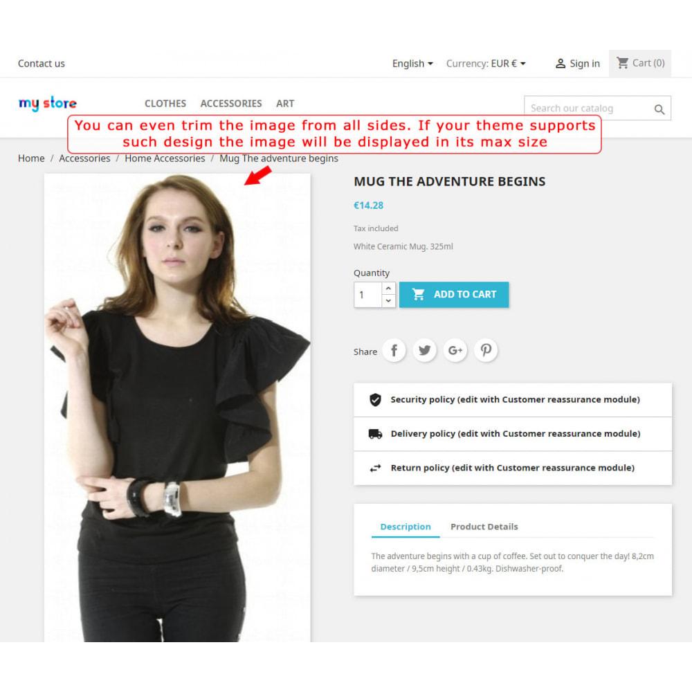 module - Personalizzazione pagine - Automatic image trimming and cropping - 6