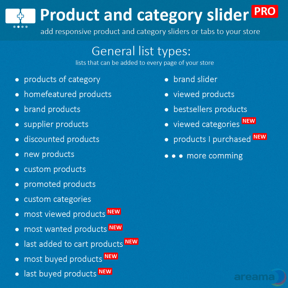 module - Zusatzinformationen & Produkt-Tabs - Product slider PRO + categories + related products - 3