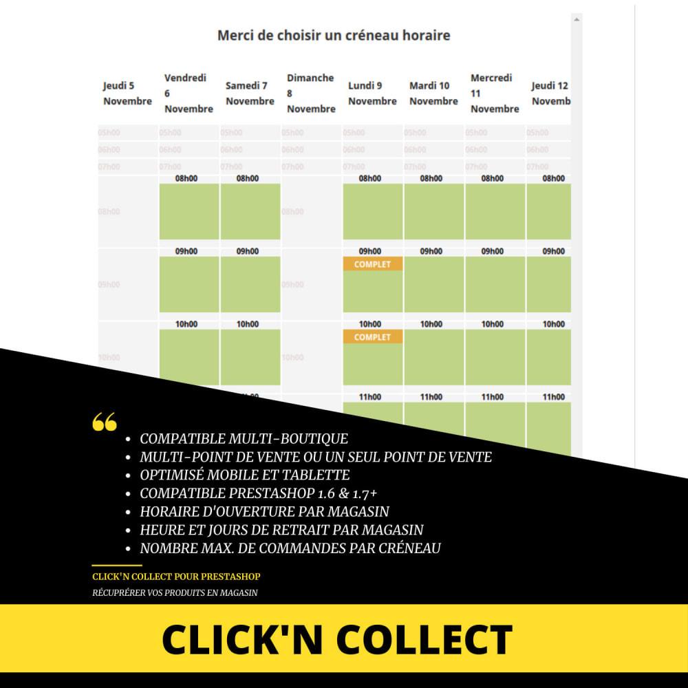 module - Point Relais & Retrait en Magasin - Click'n collect/Drive - à emporter sur créneaux horaire - 1
