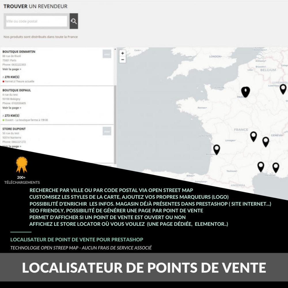 module - Punto di raccolta & Ritiro in negozio - Pro Store locator SEO (free no Google Maps) - 1