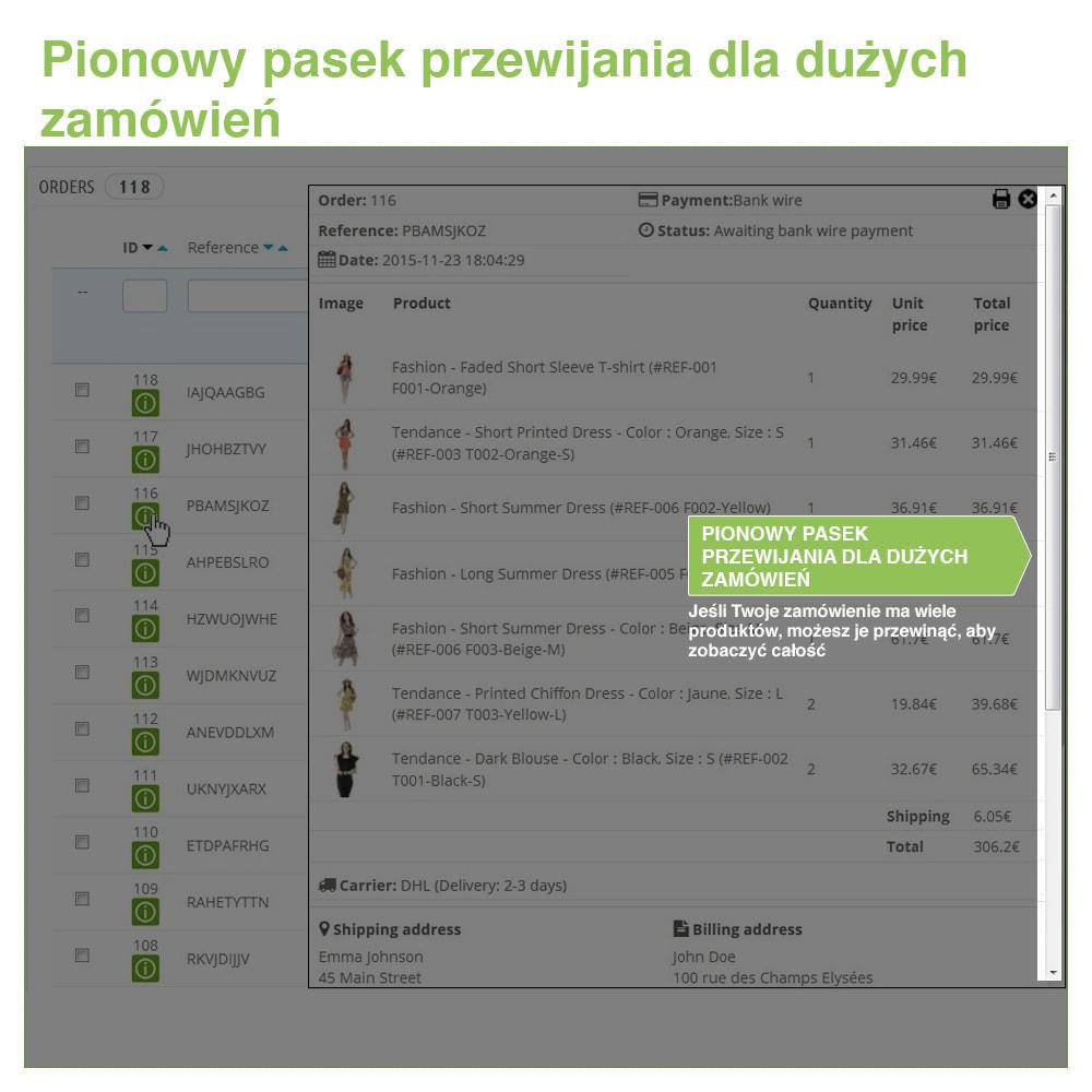 module - Zarządzanie zamówieniami - Fast Access to Order Details: podgląd danych zamówienia - 4