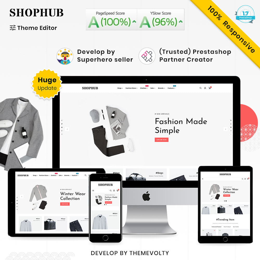 theme - Moda & Calçados - SHOPHUB Mega Style–Fashion Minimal–Modern Super Store - 1