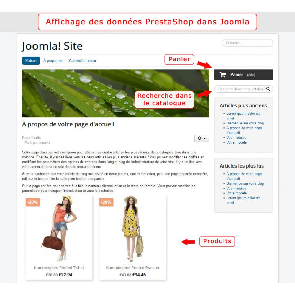 module - Marketplaces - Intégration bidirectionnelle de PrestaShop et de Joomla - 6