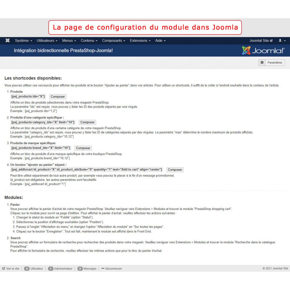 module - Marketplaces - Intégration bidirectionnelle de PrestaShop et de Joomla - 12
