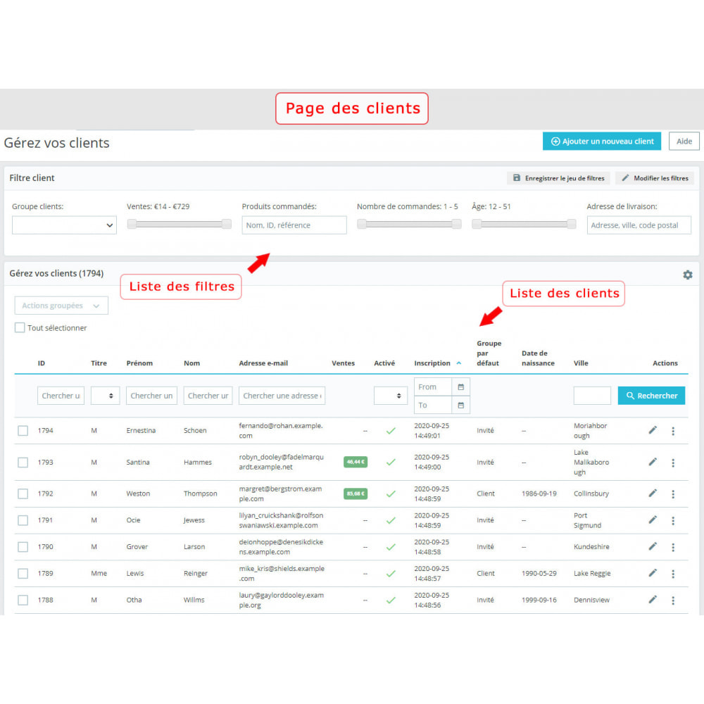 module - Recherche & Filtres - Filtre client amélioré - 1