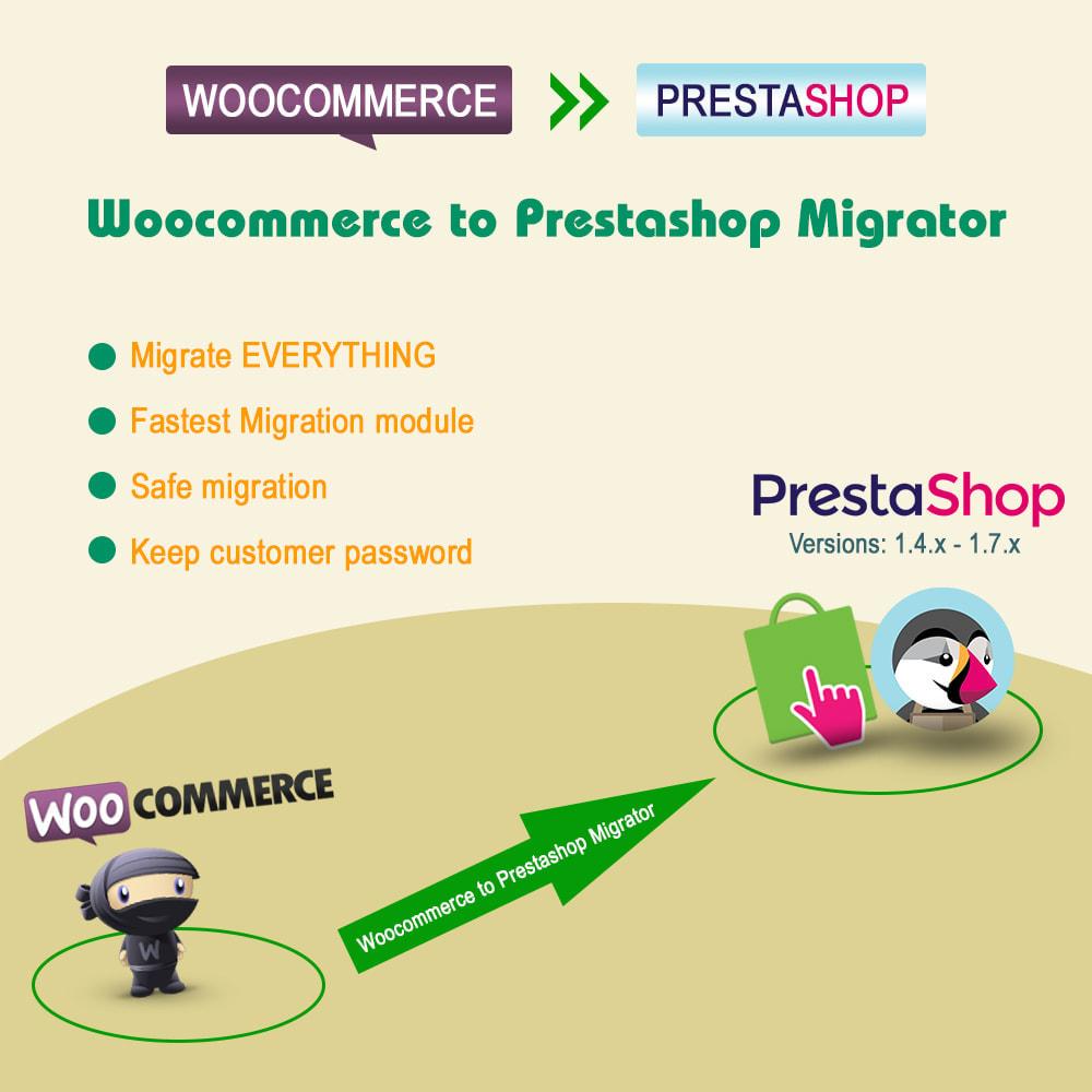 module - Newsletter & SMS - WooCommerce to Prestashop Migrator - 1