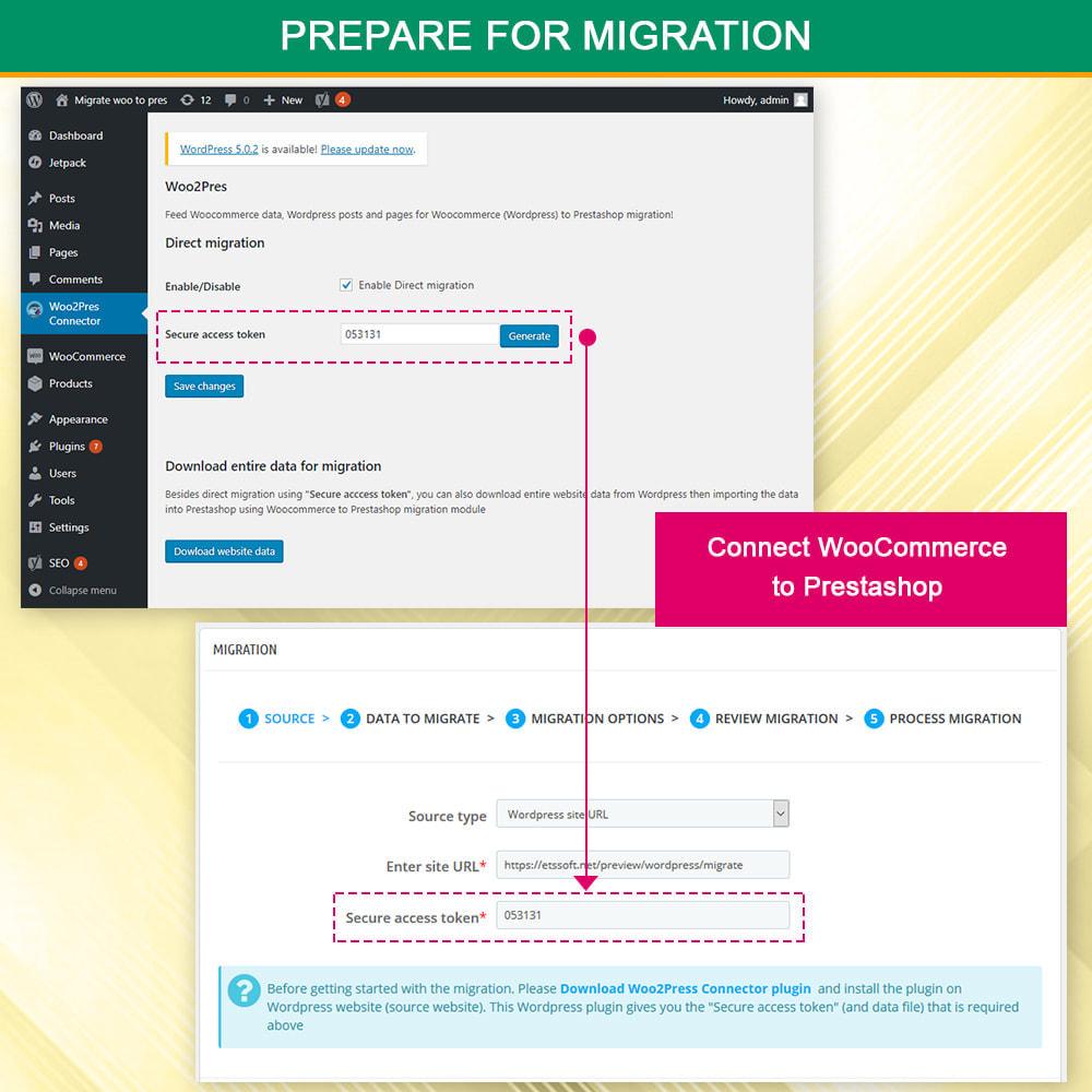 module - Newsletter & SMS - WooCommerce to Prestashop Migrator - 5