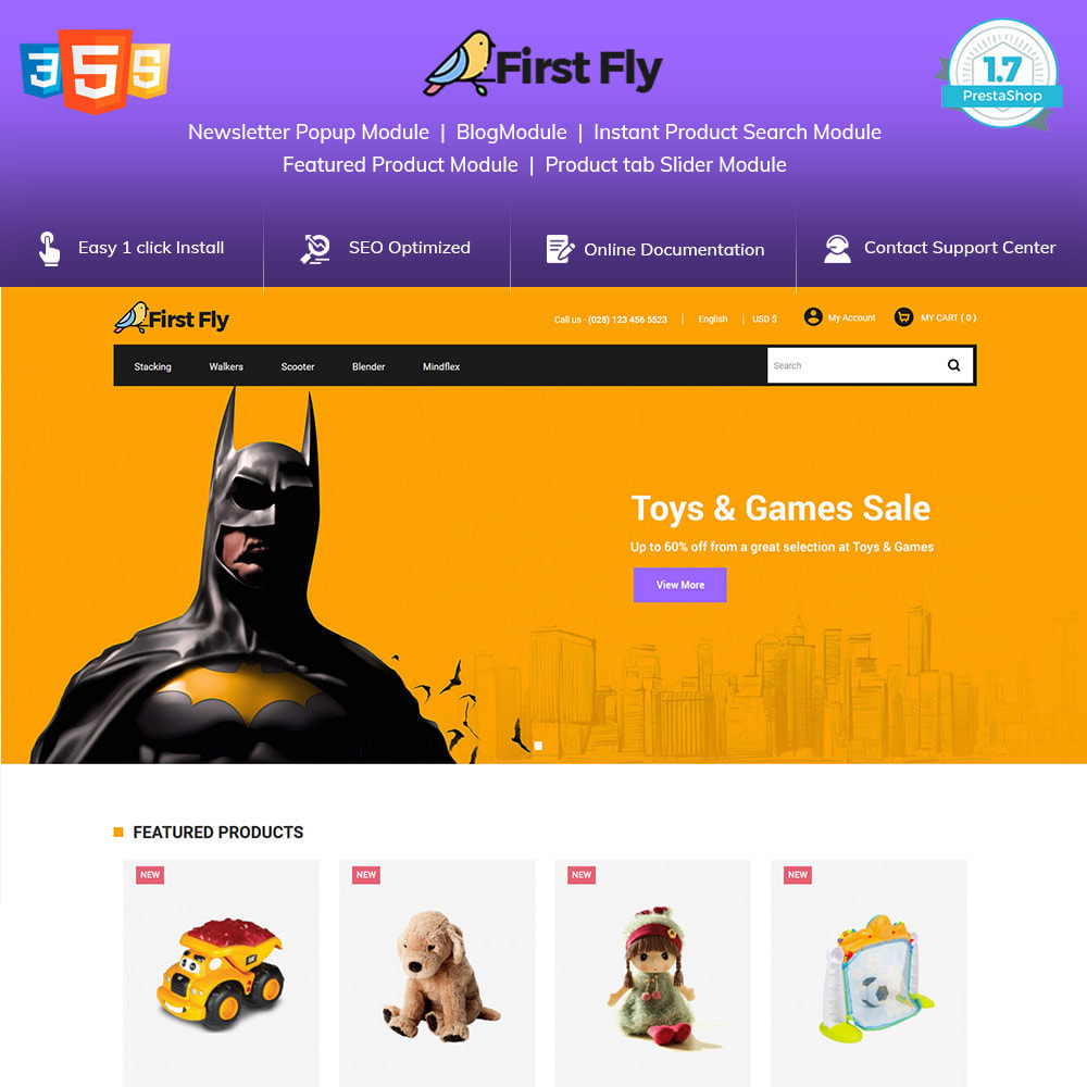 theme - Dieren - First Fly Pet -  Animal Food Supplies Store - 1