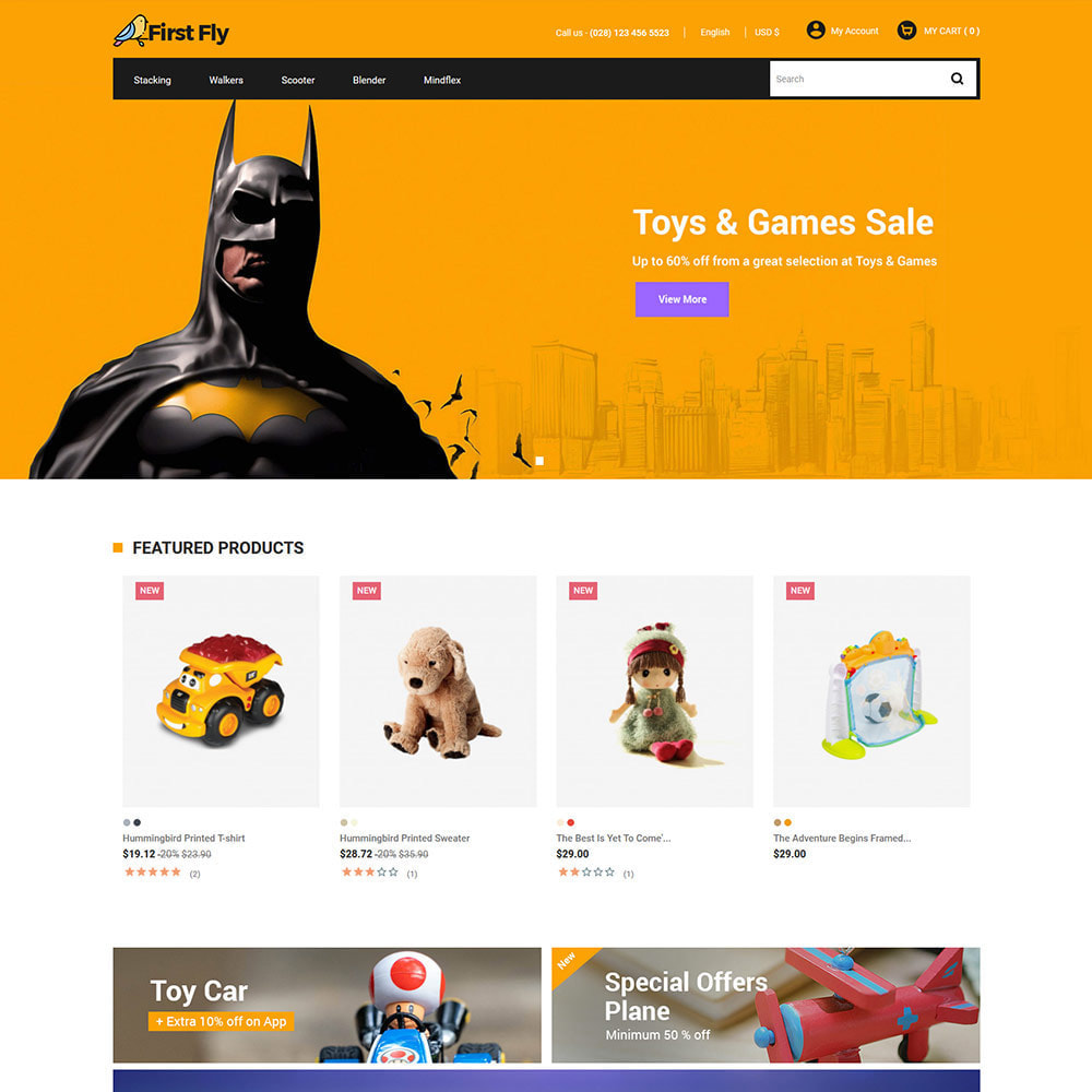 theme - Dieren - First Fly Pet -  Animal Food Supplies Store - 2