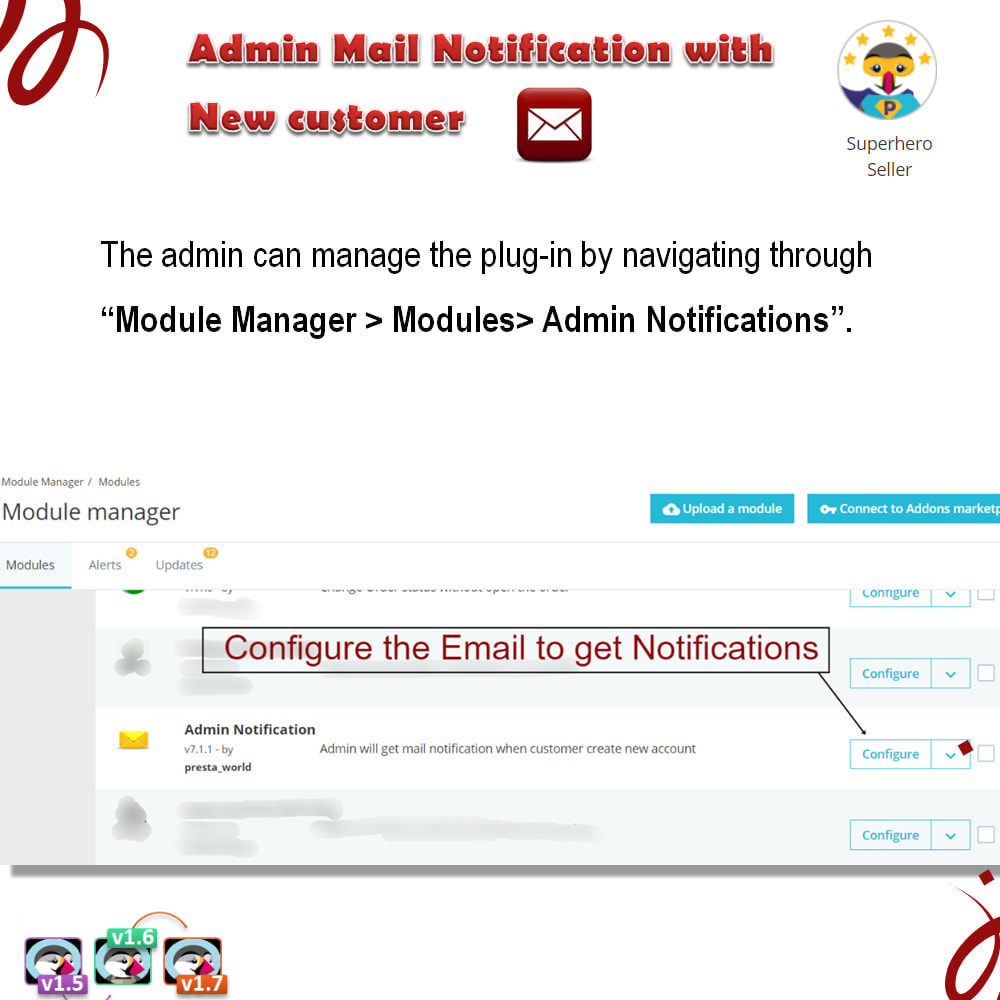 module - E-mails y Notificaciones - Admin Mail Notification With New Customer - 3