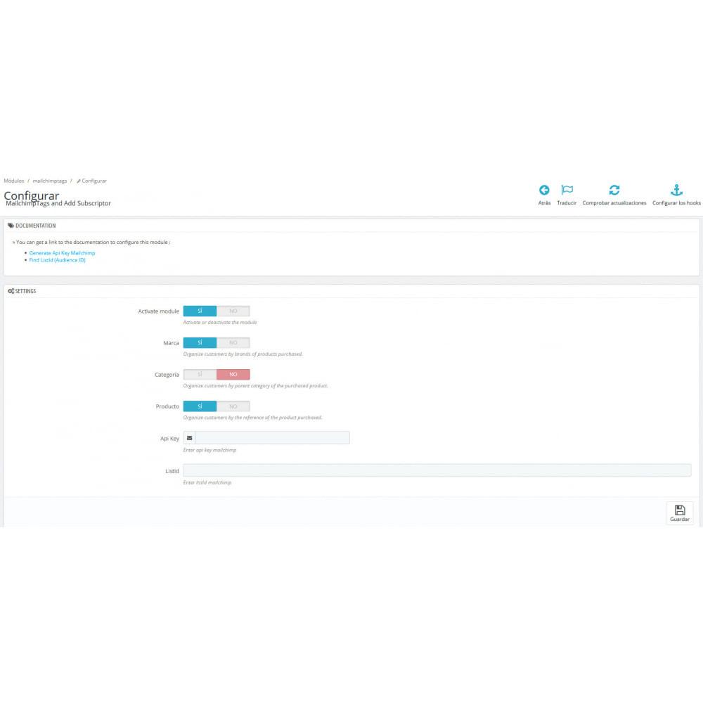 module - Marki & Producenci - MailchimpTags and Add Subscriptor - 2