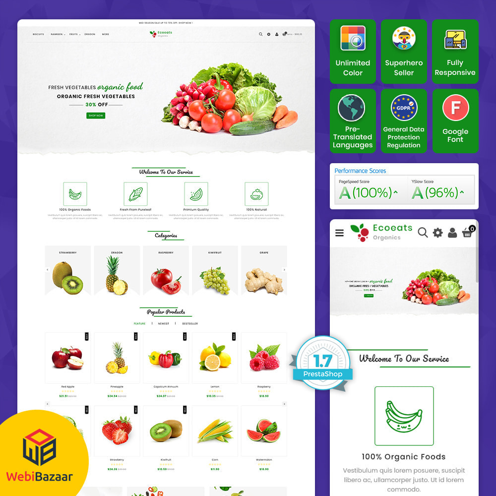 theme - Food & Restaurant - EcoEat - Organic Food & Agriculture - 1