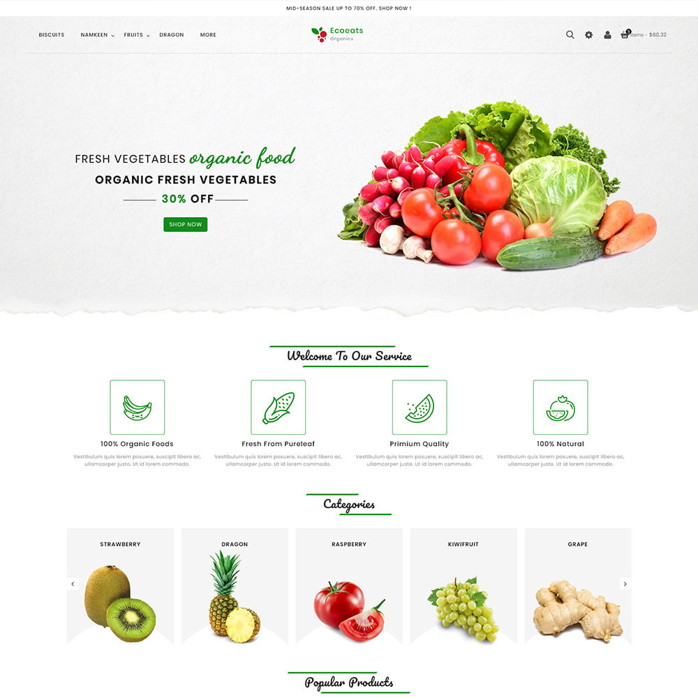 theme - Food & Restaurant - EcoEat - Organic Food & Agriculture - 2