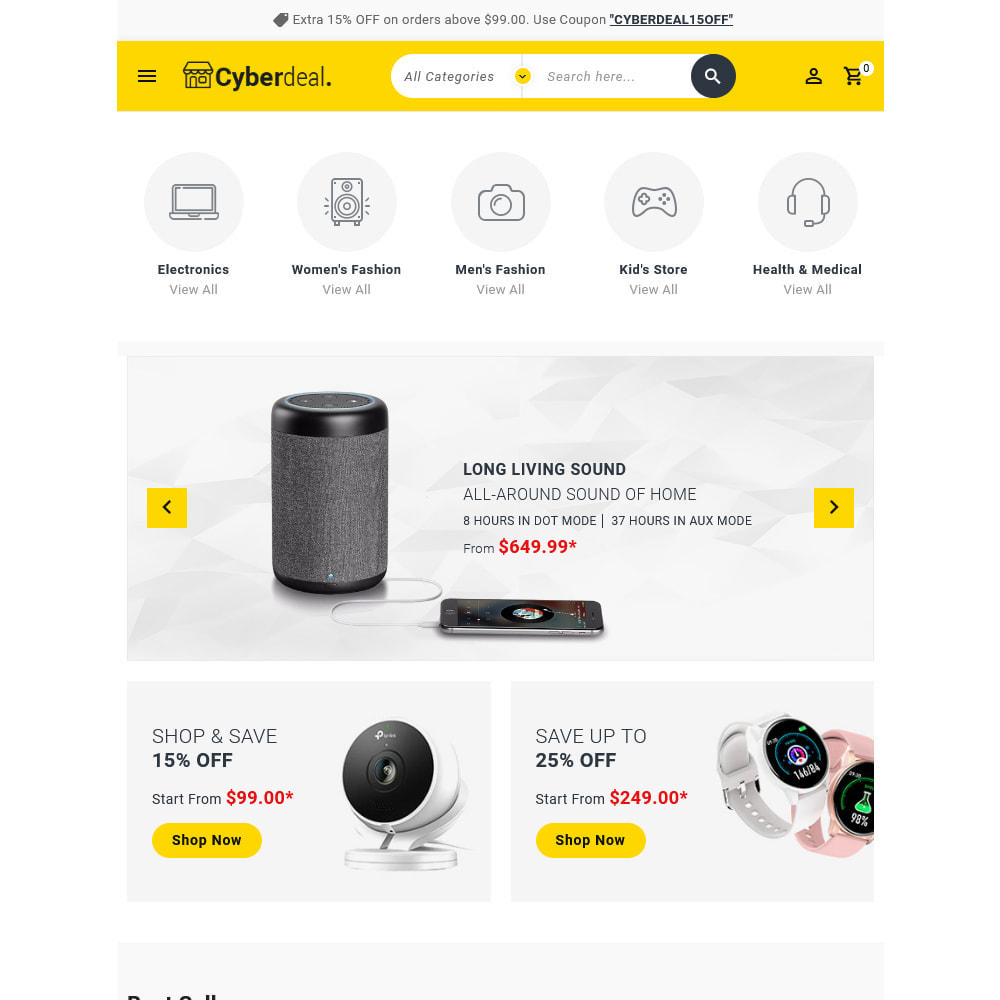 theme - Eletrônicos & High Tech - Cyberdeal - Electronic Super Store - 18