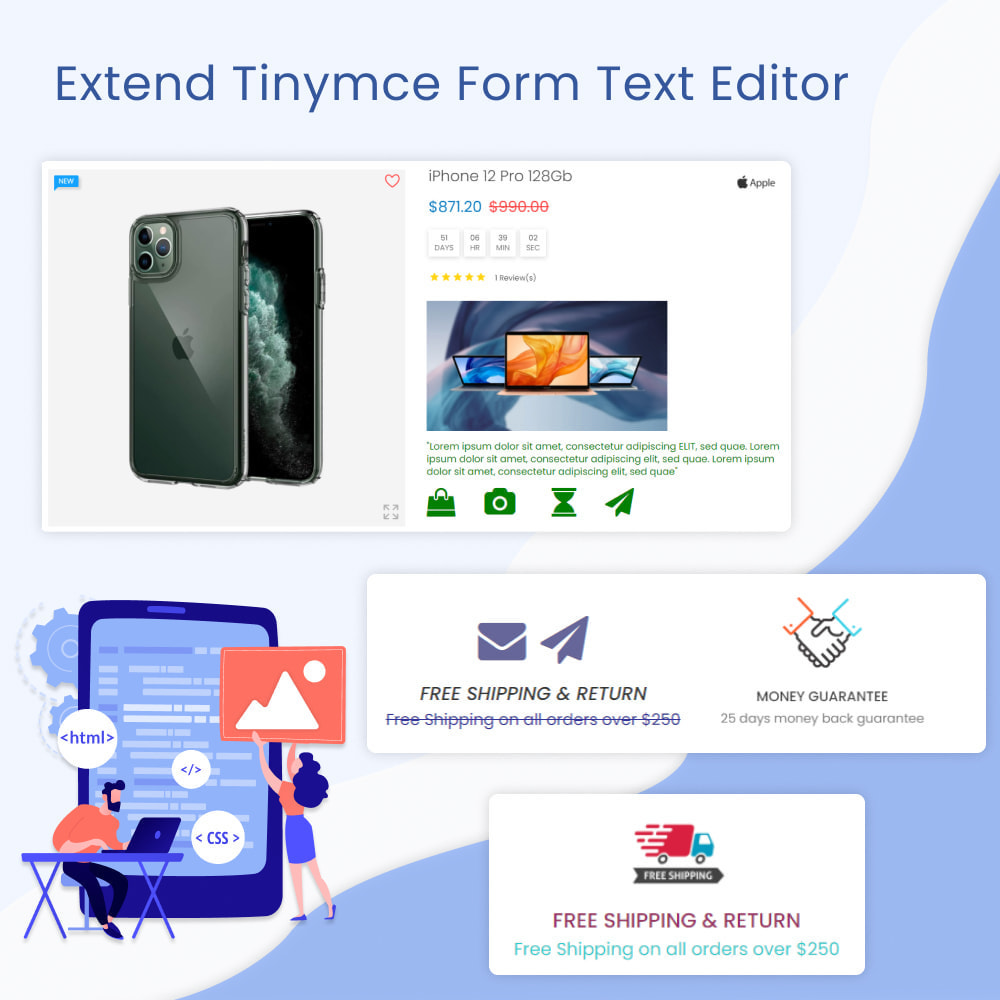 module - Bloques, Pestañas y Banners - Extend Tinymce Form Text Editor - 1