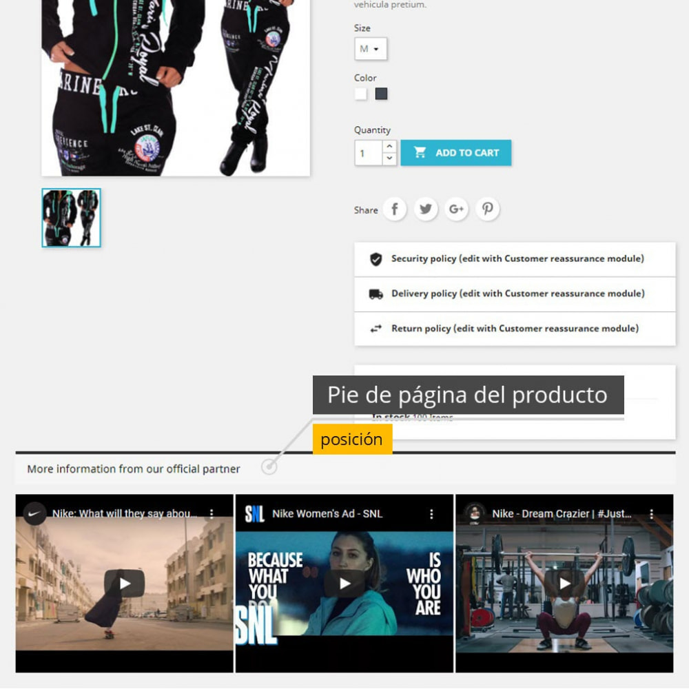 module - Vídeos y Música - Vídeos de productos - Youtube / Vimeo - 2