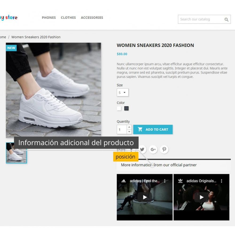 module - Vídeos y Música - Vídeos de productos - Youtube / Vimeo - 3