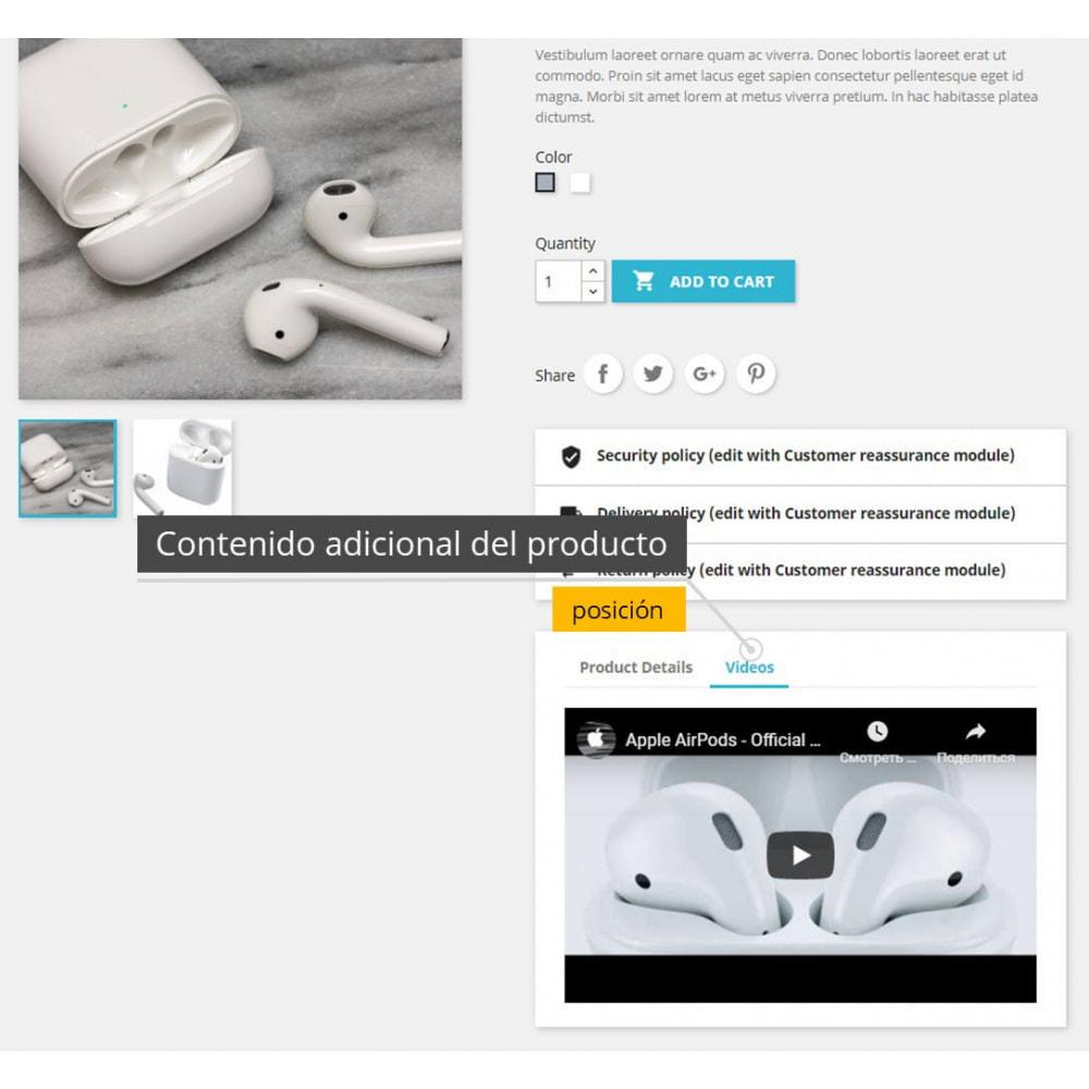 module - Vídeos y Música - Vídeos de productos - Youtube / Vimeo - 4