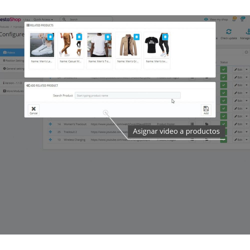 module - Vídeos y Música - Vídeos de productos - Youtube / Vimeo - 7