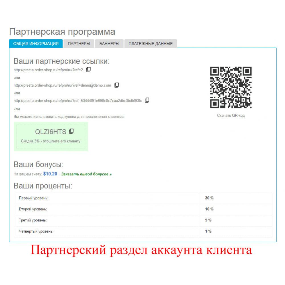 module - Платная поисковая оптимизация - Расширенная партнерская программа RefPRO - 20