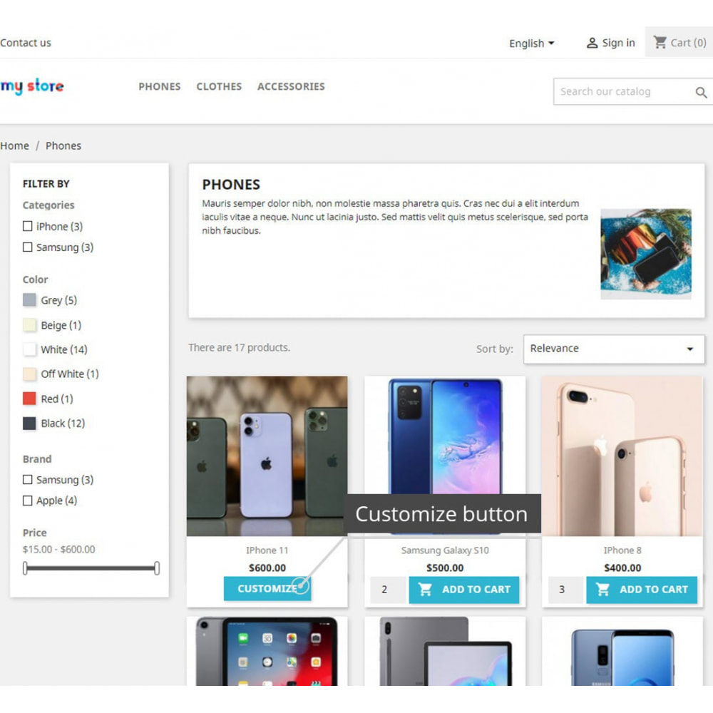 module - Pегистрации и оформления заказа - Display Add To Cart Button In Product List Pages - 5