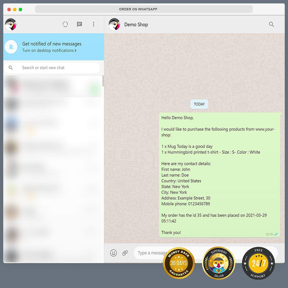 module - Support & Online Chat - WhatsApp Integration PRO - Quick Order, Chat, Agents - 12
