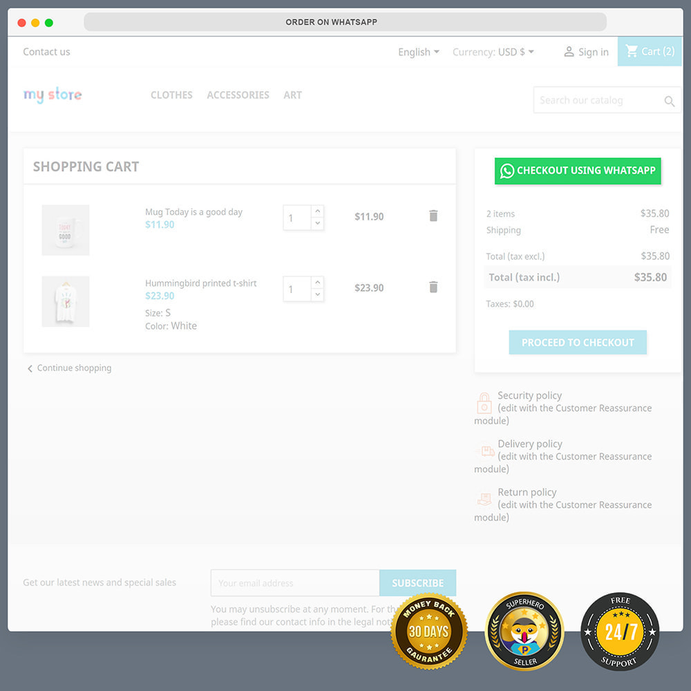 module - Support & Chat Online - Intégration WhatsApp PRO - Commande rapide, chat,agents - 6