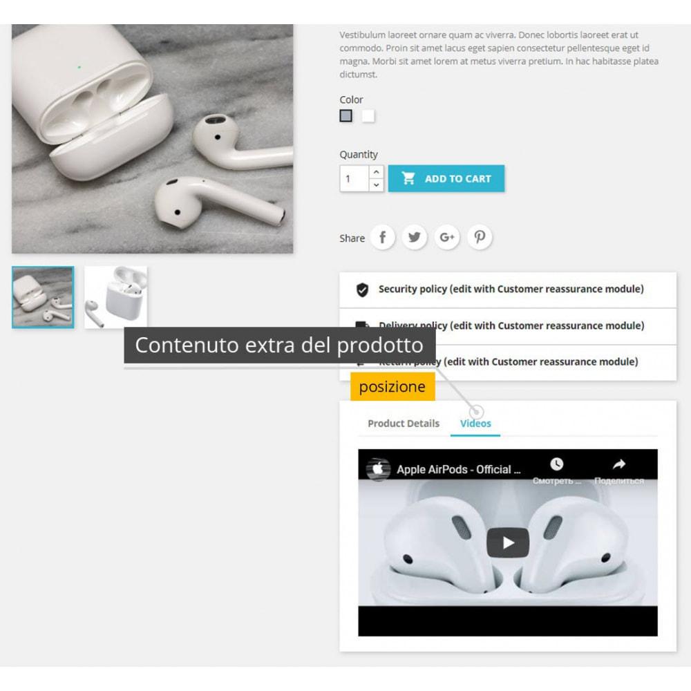 module - Video & Musica - Video dei prodotti - Youtube / Vimeo - 4