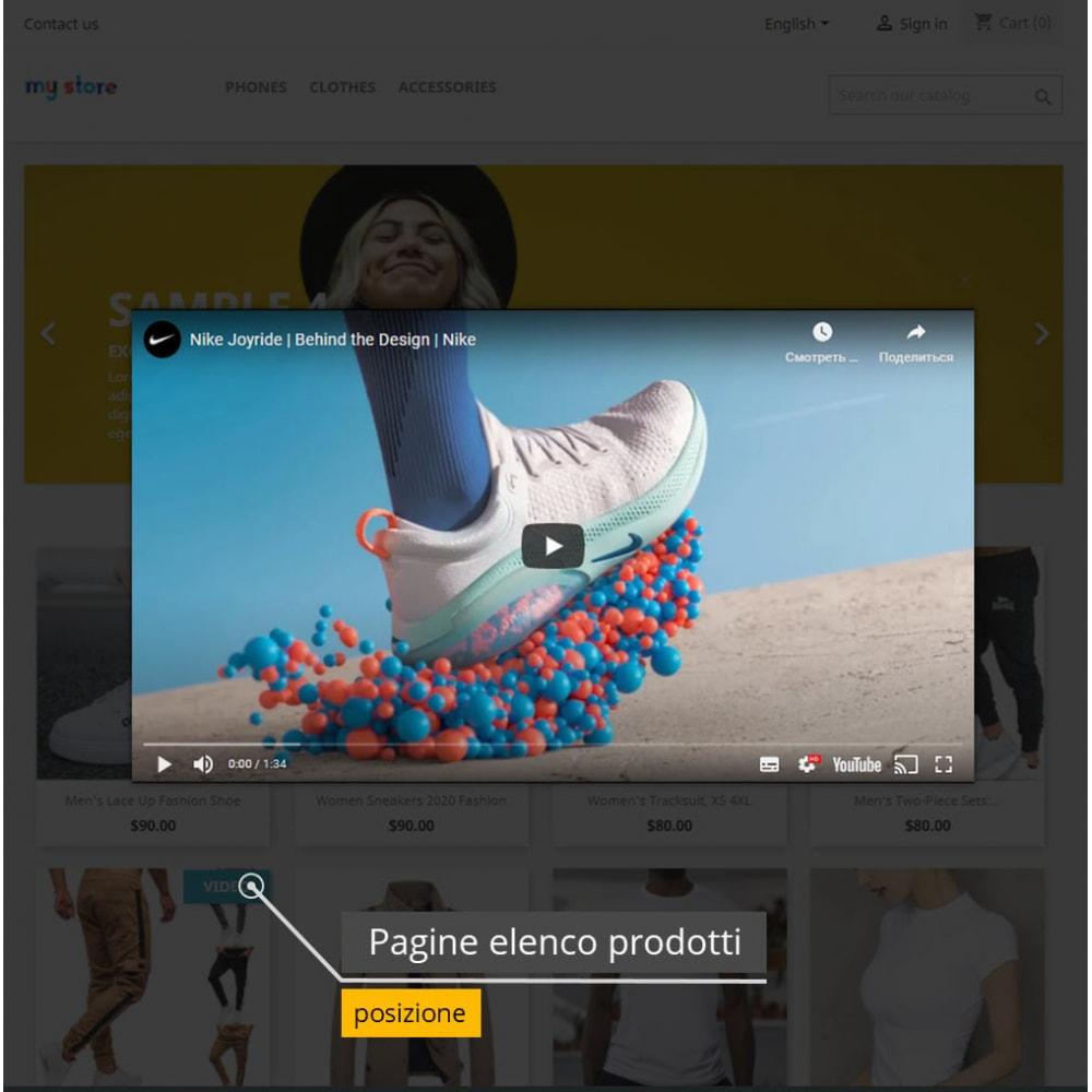 module - Video & Musica - Video dei prodotti - Youtube / Vimeo - 5