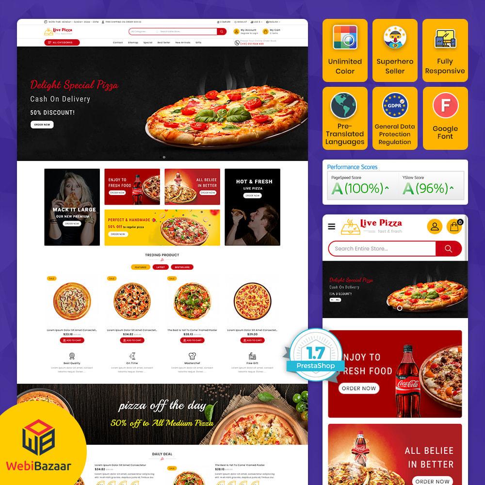theme - Gastronomía y Restauración - Live Pizza - Fast And Fresh Restaurant - 1