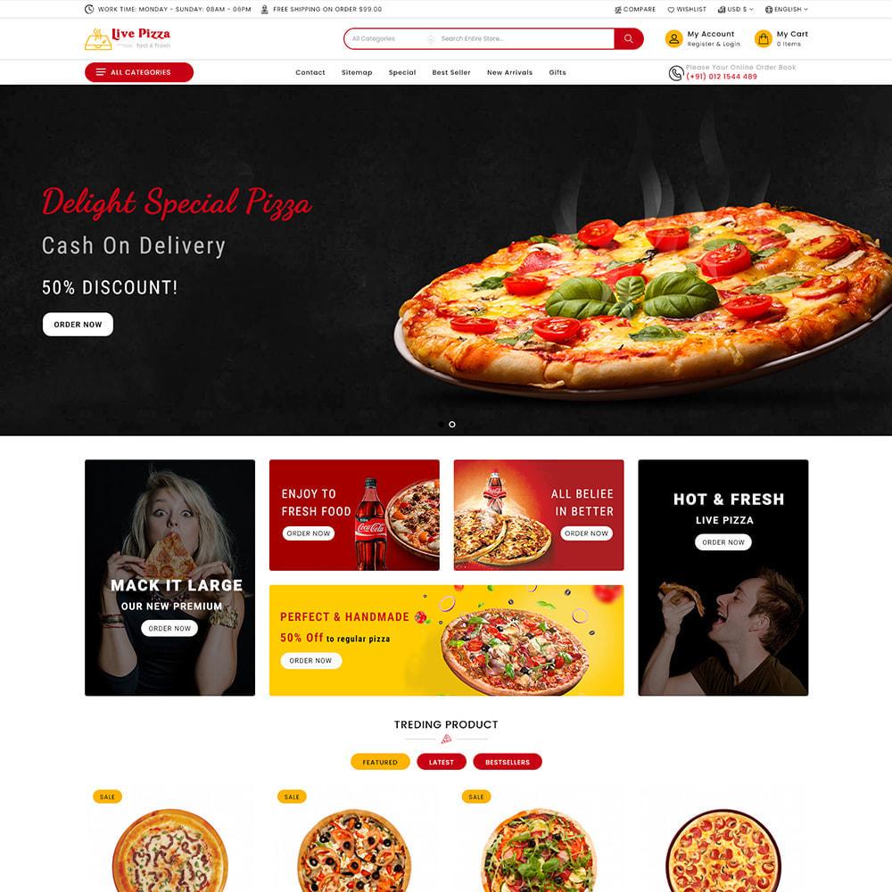 theme - Gastronomía y Restauración - Live Pizza - Fast And Fresh Restaurant - 2
