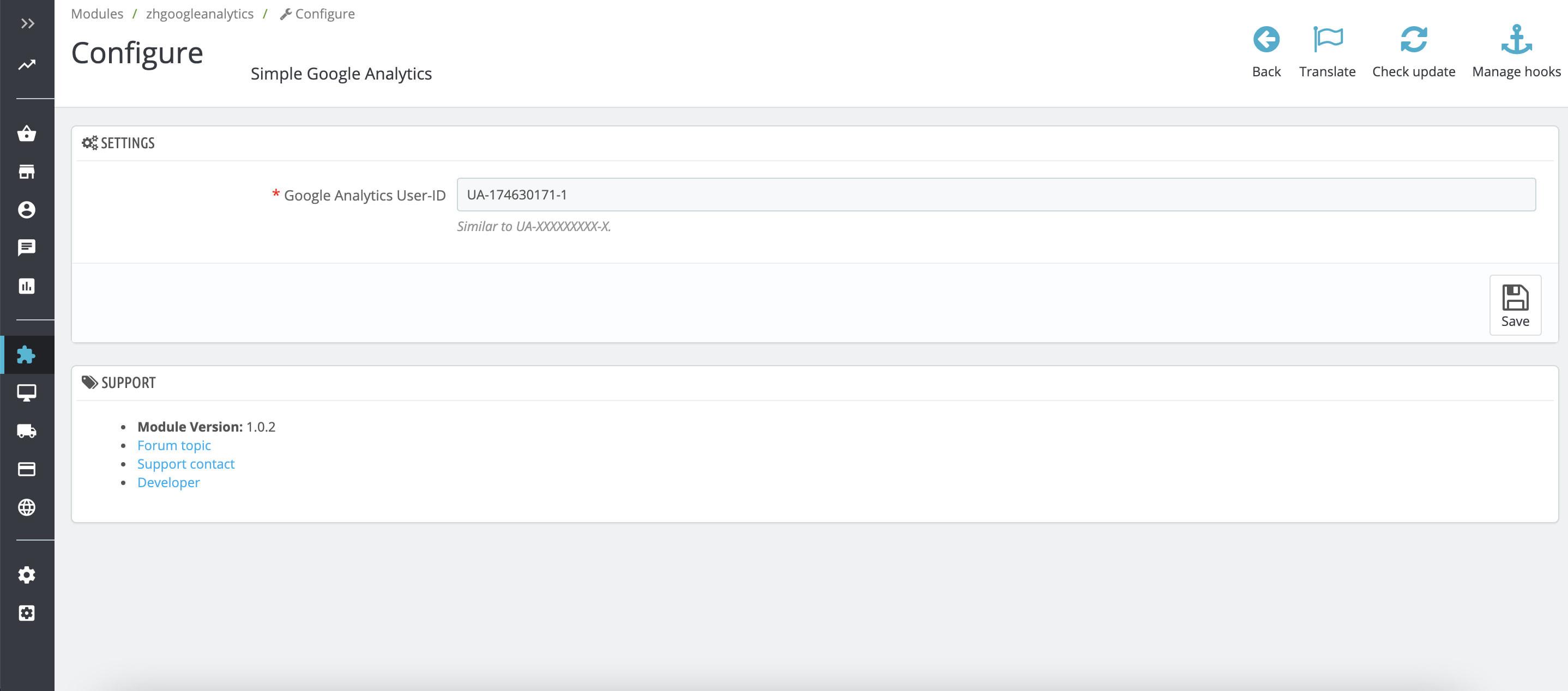 module - Analytics & Statistics - Simple Google Analytics Online - 1
