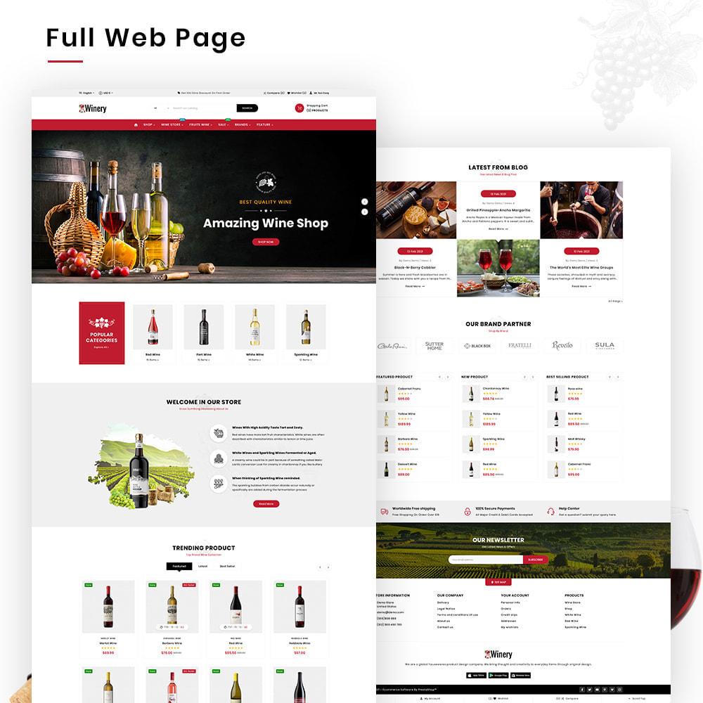 theme - Bebidas & Tabaco - Winery Mega France–Wine  Alcohol–Drink Super Store - 3