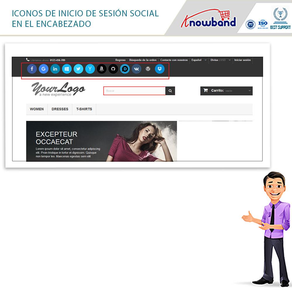 module - Botones de inicio de Sesión/Conexión - Knowband-Acceso Social 14 in 1,Estadísticas & MailChimp - 2